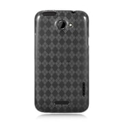 Insten Rubber Cover Case For HTC One X - Smoke