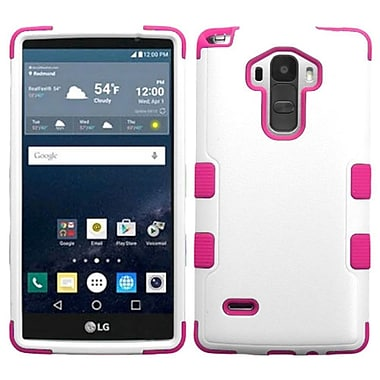 Insten Hard Hybrid Rugged Shockproof Rubberized Silicone Case For LG G Stylo - White/Hot Pink