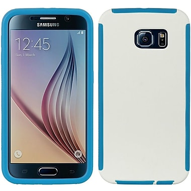 Insten Wrap Up Rubber Case w/Installed For Samsung Galaxy S6 - White/Blue