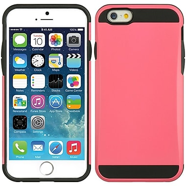 Insten Hard Dual Layer TPU Case for Apple iPhone 6 / 6s - Hot Pink/Black