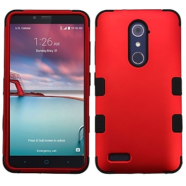 Insten Tuff Hard Hybrid Silicone Case For ZTE Grand X Max 2 / Imperial Max / Kirk / Max Duo 4G / Zmax Pro - Red/Black