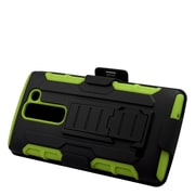 Insten Hard Hybrid Plastic Silicone Stand Case with Holster For LG Escape 2 - Black/Green (2218987)