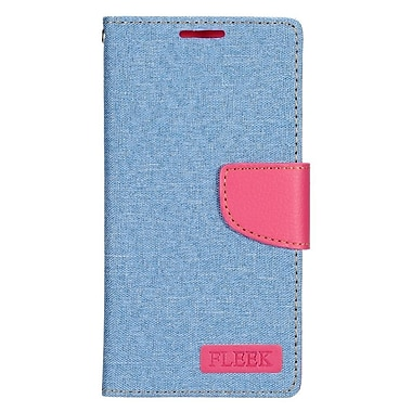 Insten Leather Wallet Case with Card slot & Photo Display For Samsung Galaxy S7 - Light Blue/Pink