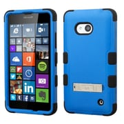 Insten Hard Hybrid Rubber Silicone Case with Stand For Microsoft Lumia 640(Metro PCS)/640(T-mobile) - Blue/Black