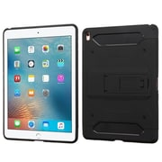 "Insten Hard Dual Layer TPU Case w/stand/Holster For Apple iPad Pro (9.7"") - Black"