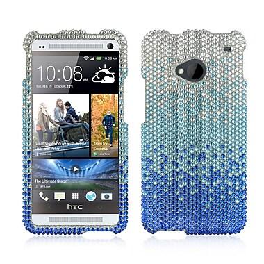 Insten Hard Rhinestone Case For HTC One M7 - Blue