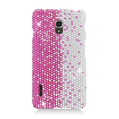 Insten Hard Bling Case For LG Optimus F7 US780 (US Cellular) - Hot Pink/Silver