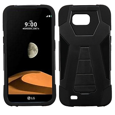 Insten Inverse Advanced Armor Hybrid Dual Layer Stand Back Protective Case For LG V9 - Black