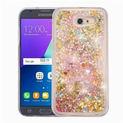 Insten Stars Pink Quicksand Glitter Hybrid Hard/TPU Protective Case Cover For Samsung Galaxy Express Prime 2 / J3 (2017)