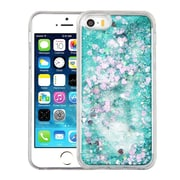 Insten Hearts Green Quicksand Glitter Hybrid Hard/TPU Protective Case Cover For Apple iPhone SE / 5 / 5S