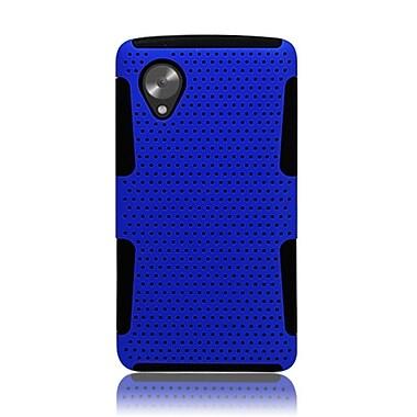 Insten TPU Rubber Hard PC Candy Skin Mesh Case Cover For LG Google Nexus 5 - Blue/Black