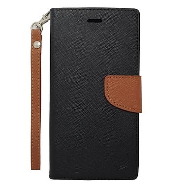 Insten Wallet Leather Stand Case with Lanyard & Card slot For iPhone 6s Plus / 6 Plus - Black/Brown