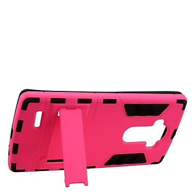 Insten Hard Hybrid Silicone Cover Case w/stand For LG G4 - Hot Pink/Black