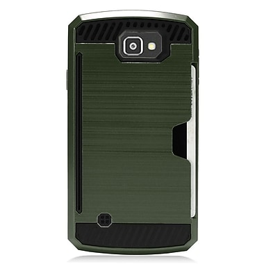 Insten Hard Hybrid Dual Layer TPU Cover Case for LG Optimus Zone 3 / Spree - Green/Black