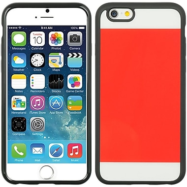 Insten Crystal Black TPU Two Tone PC Rubber Gel Shell Case For Apple iPhone 6 / 6s - Red