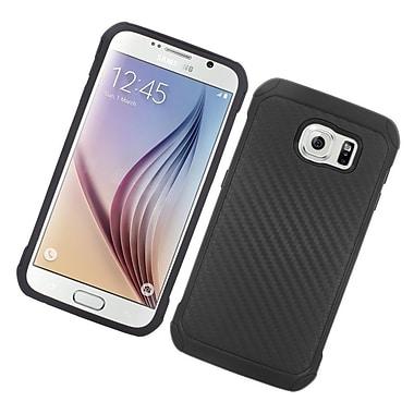 Insten Carbon Fiber Hard Dual Layer Hybrid Case For Samsung Galaxy S6 - Black