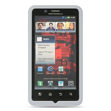 Insten Premium Silicone Soft Skin Back Gel Cover Case For Motorola Droid Bionic XT875 - White