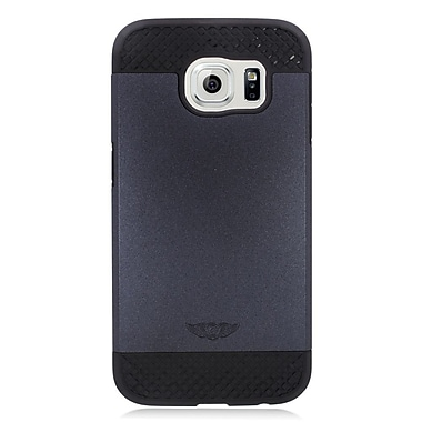 Insten Hard Hybrid Rubber Coated Silicone Cover Case For Samsung Galaxy S6 - Black