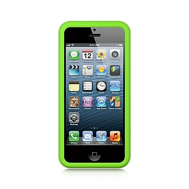 Insten Premium Silicone Soft Skin Back Gel Cover Case For Apple iPhone 5 / 5S - Green