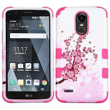 Insten Spring Flowers/Electric Pink TUFF Hybrid Phone Protective Cover Case [Military-Grade Certified] For LG Stylo 3