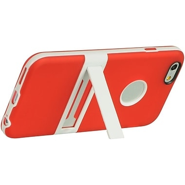 Insten Hard TPU Cover Case w/stand For Apple iPhone 6 / 6s - Red/White