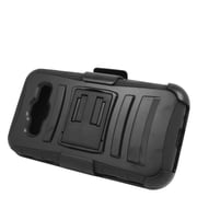 Insten Stand Dual Layer Hybrid Case with Holster For Samsung Galaxy Core Prime - Black