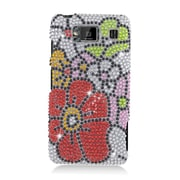 Insten Flowers Hard Bling Case For Motorola Droid Razr Maxx HD - Red/Green