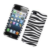 Insten Zebra Hard Case For Apple iPhone 5 / 5S - Black/White