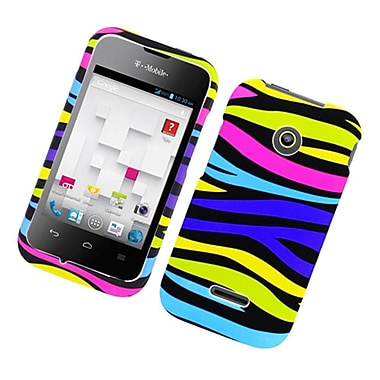 Insten Zebra Hard Rubber Coated Cover Case For Huawei Prism II U8686 - Colorful