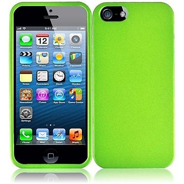 Insten For Apple iPhone SE 5S 5 Hard Rubberized Case - Neon Green