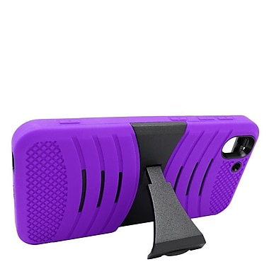 Insten Wave Symbiosis Rubber Dual Layer Hard Case w/stand For HTC Desire Eye - Purple/Black