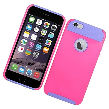 Insten Hard Dual Layer Rubberized Silicone Case for iPhone 6s Plus / 6 Plus - Hot Pink/Purple