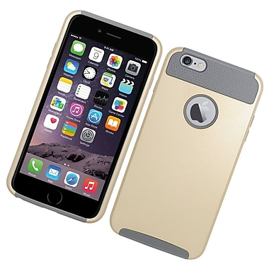 Insten Hard Hybrid Rubber Silicone Case for iPhone 6s Plus / 6 Plus - Gold/Gray