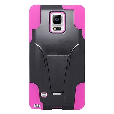 Insten Hard Hybrid Plastic Silicone Case with stand For Samsung Galaxy Note 4 - Hot Pink