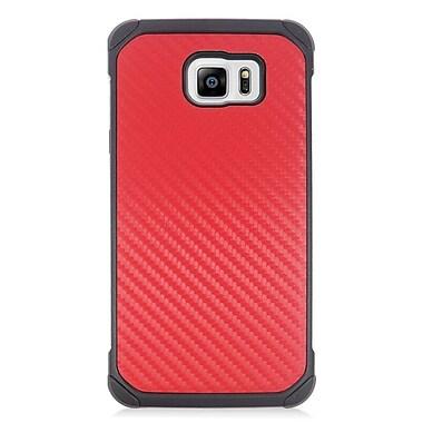Insten Carbon Fiber Hard Dual Layer Hybrid Case For Samsung Galaxy Note 5 - Red/Black