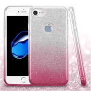 Insten Hard Hybrid Glitter TPU Cover Case For Apple iPhone 7 - Pink