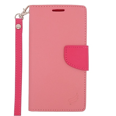 Insten Leather Case with Lanyard & Photo Display For Microsoft Lumia 640 - Pink/Hot Pink