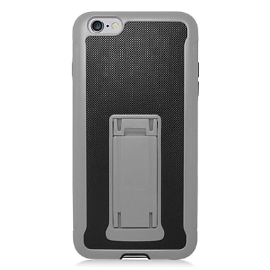 Insten Hard Dual Layer Plastic Silicone Case w/stand for iPhone 6s Plus / 6 Plus - Black/Gray