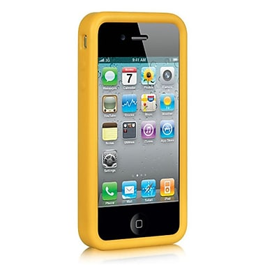 Insten Premium Silicone Skin Gel Back Soft Case Cover For Apple iPhone 4 / 4S - Yellow