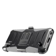 Insten Advanced Armor Dual Layer Hybrid Stand Case + Holster Clip For LG X Power - Black/Gray