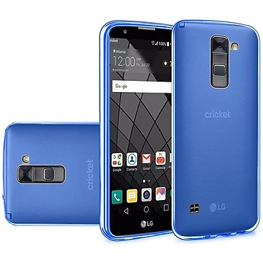 Insten Frosted Rubber Skin Cover Case For LG Stylo 2 Plus / Stylus 2 Plus - Blue
