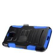 Insten Advanced Armor Hybrid Stand Case + Holster Clip For Motorola Moto G4 Plus XT1644 / G4 XT1625 - Black/Blue
