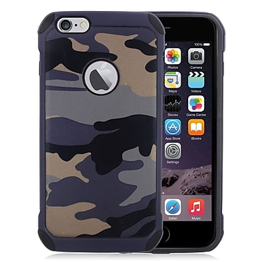 Insten Camouflage Hard Dual Layer Silicone Cover Case For Apple iPhone 6s Plus / 6 Plus - Gray