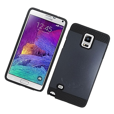 Insten Hard Hybrid Silicone Cover Case For Samsung Galaxy Note 4 - Black