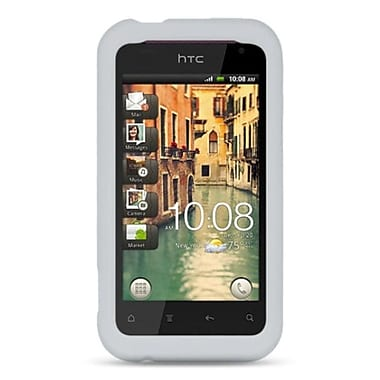Insten Silicone Rubber Case For HTC Rhyme / Bliss - Clear