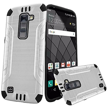Insten Double Layer Hybrid Brushed Rugged Case Cover For LG Stylo 2 Plus - White/Black
