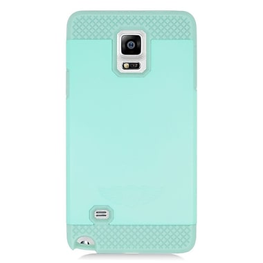 Insten Hard Dual Layer Rubberized Silicone Case For Samsung Galaxy Note 4 - Mint