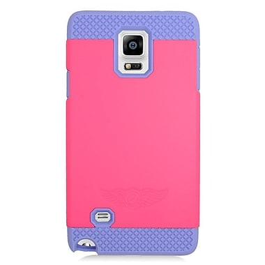 Insten Hard Dual Layer Hybrid Case For Samsung Galaxy Note 4 - Hot Pink/Purple