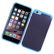 Insten Hard Hybrid Rubberized Silicone Case For iPhone 6s Plus / 6 Plus - Blue/Light Blue
