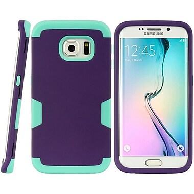 Insten Hard Hybrid TPU Case For Samsung Galaxy S6 Edge - Purple/Teal